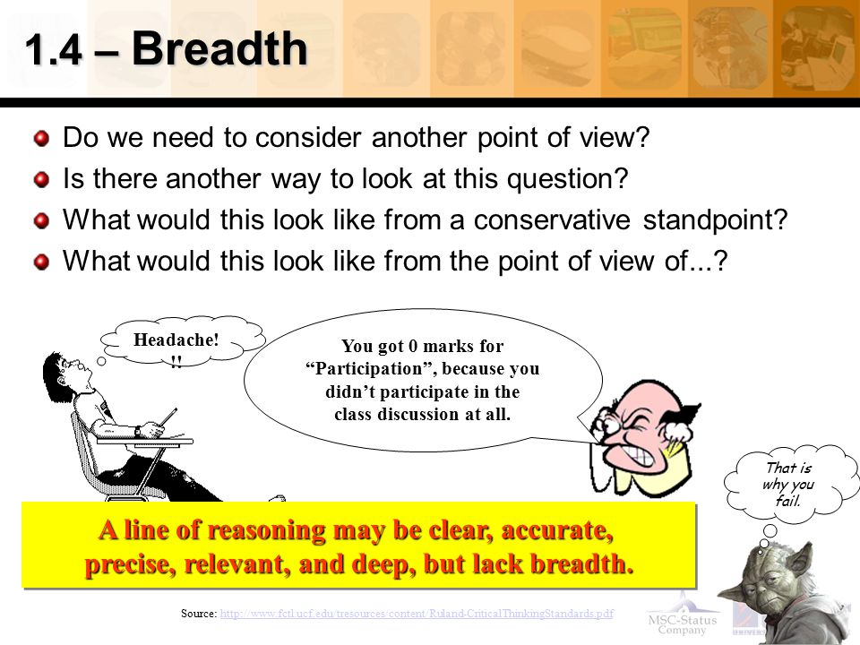 1.4 – Breadth Do we need to consider another point of view