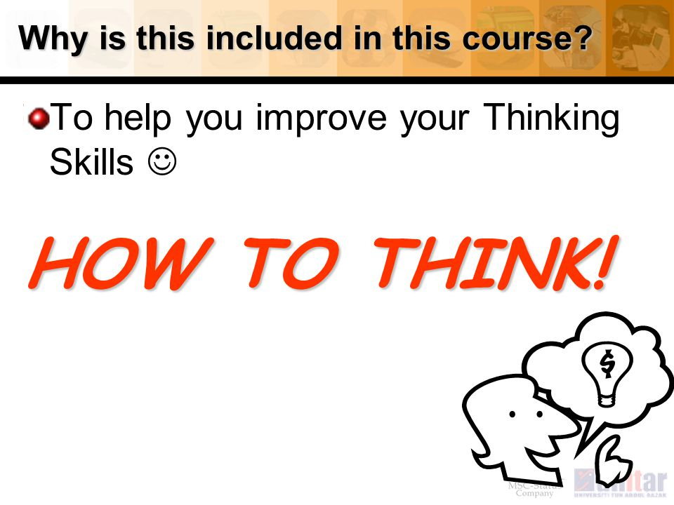 Why is this included in this course