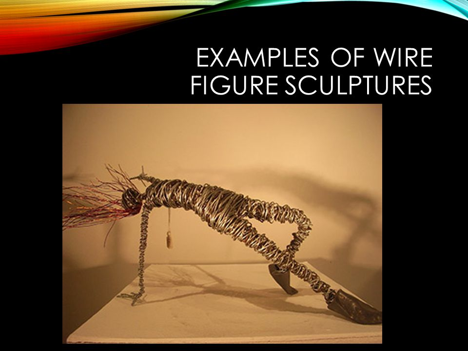 Examples of wire figure sculptures