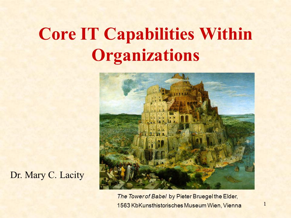 Core IT Capabilities Within Organizations