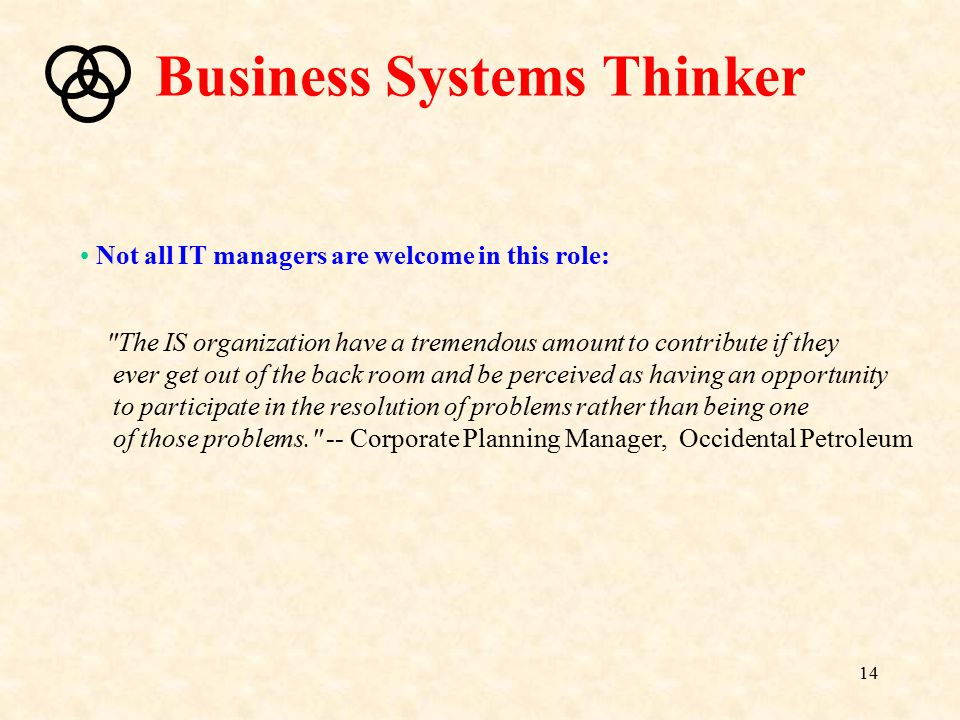 Business Systems Thinker