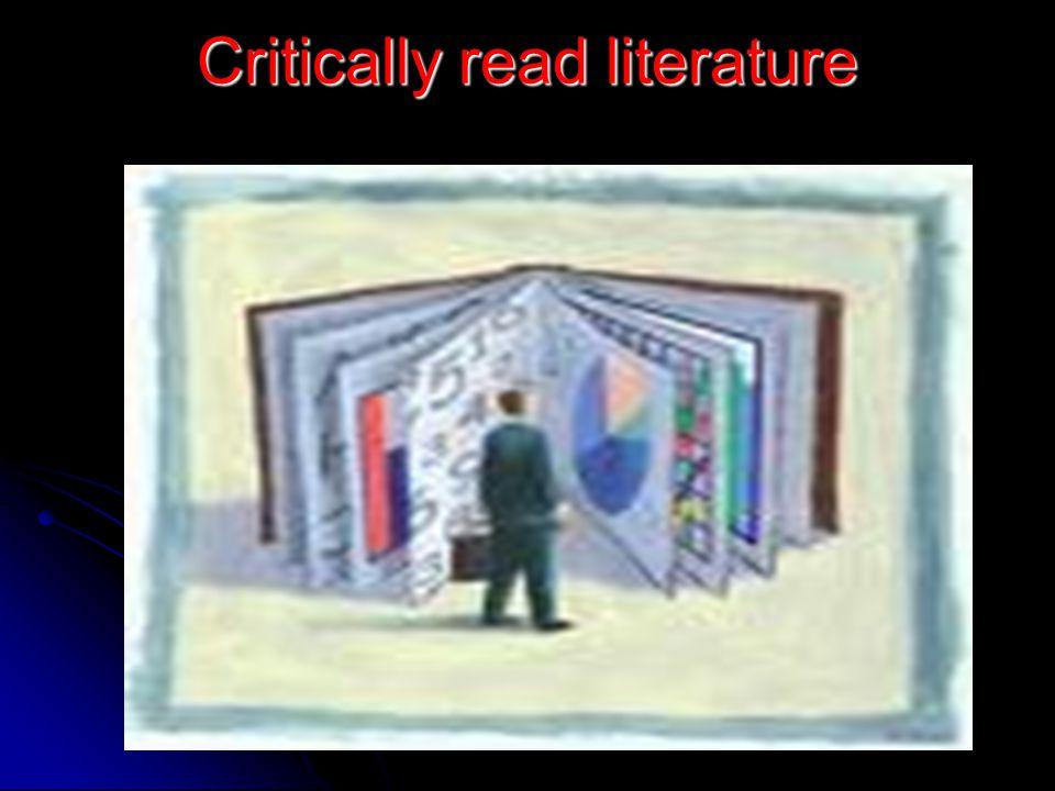 Critically read literature