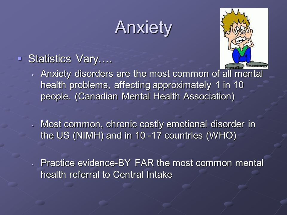 Anxiety Statistics Vary….