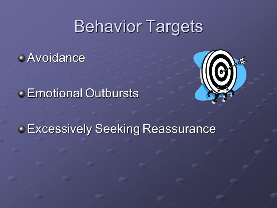 Behavior Targets Avoidance Emotional Outbursts