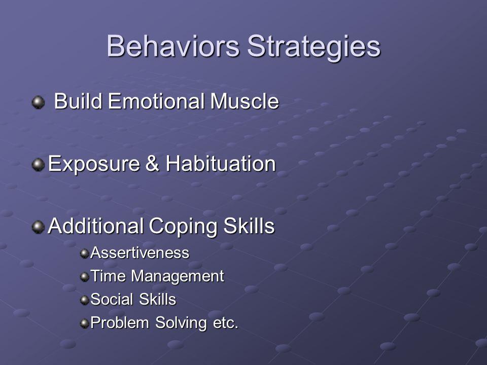 Behaviors Strategies Build Emotional Muscle Exposure & Habituation