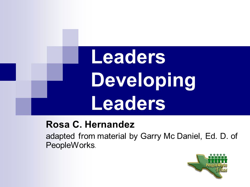 Leaders Developing Leaders