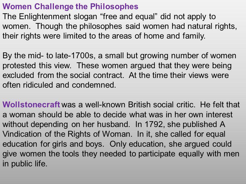 Women Challenge the Philosophes