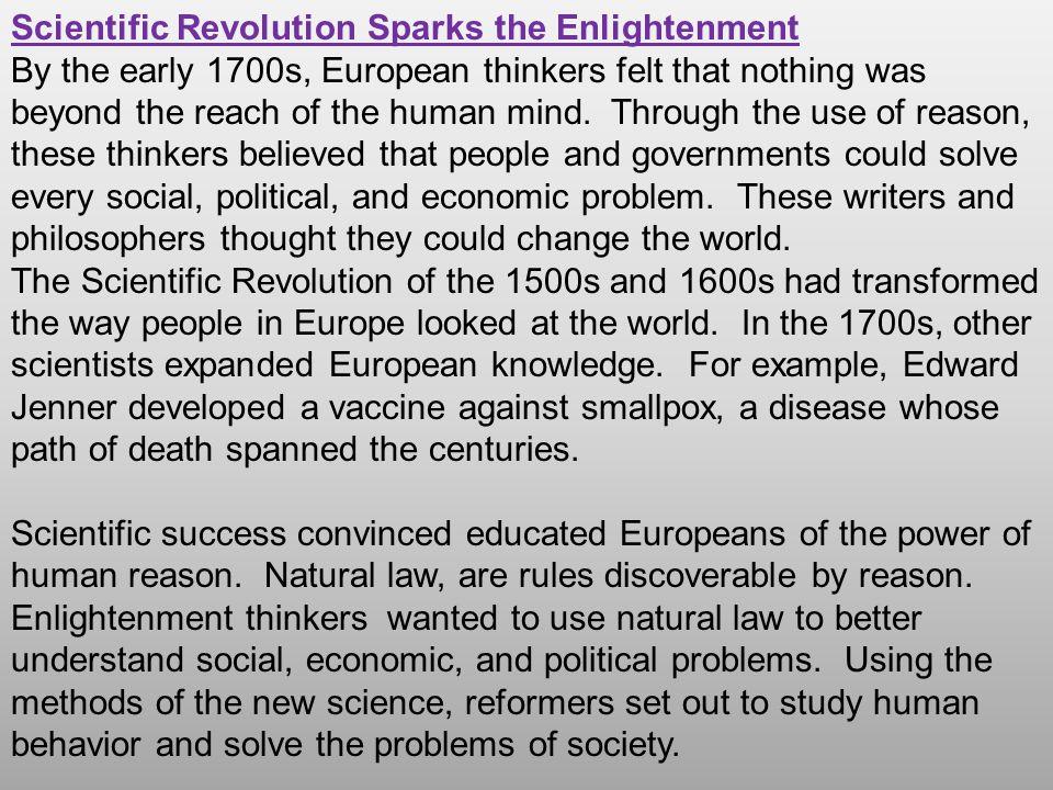 Scientific Revolution Sparks the Enlightenment