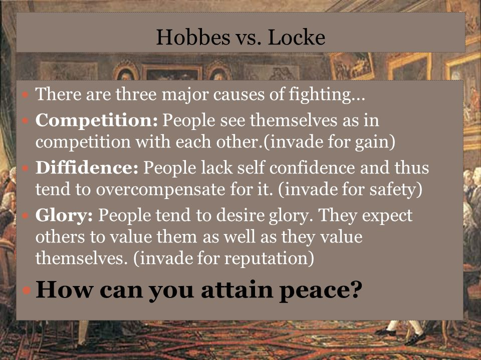 How can you attain peace