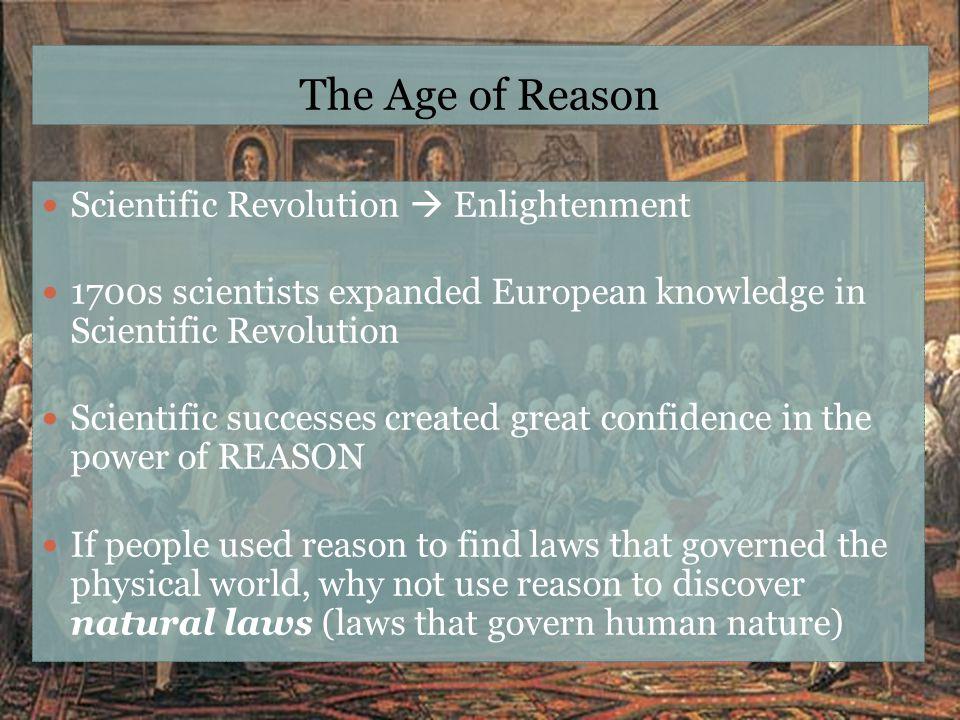 The Age of Reason Scientific Revolution  Enlightenment