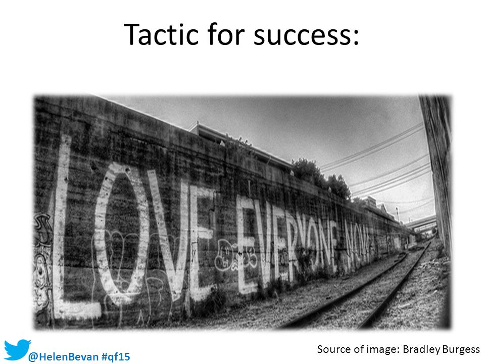 Tactic for success: Source of image: Bradley Burgess