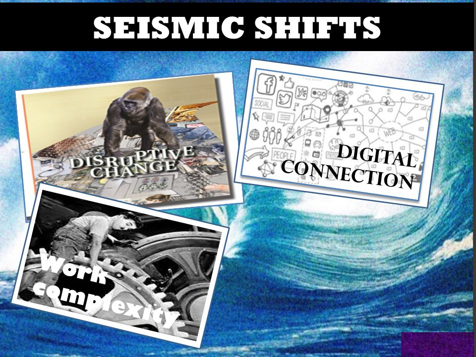SEISMIC SHIFTS DIGITAL CONNECTION Work complexity