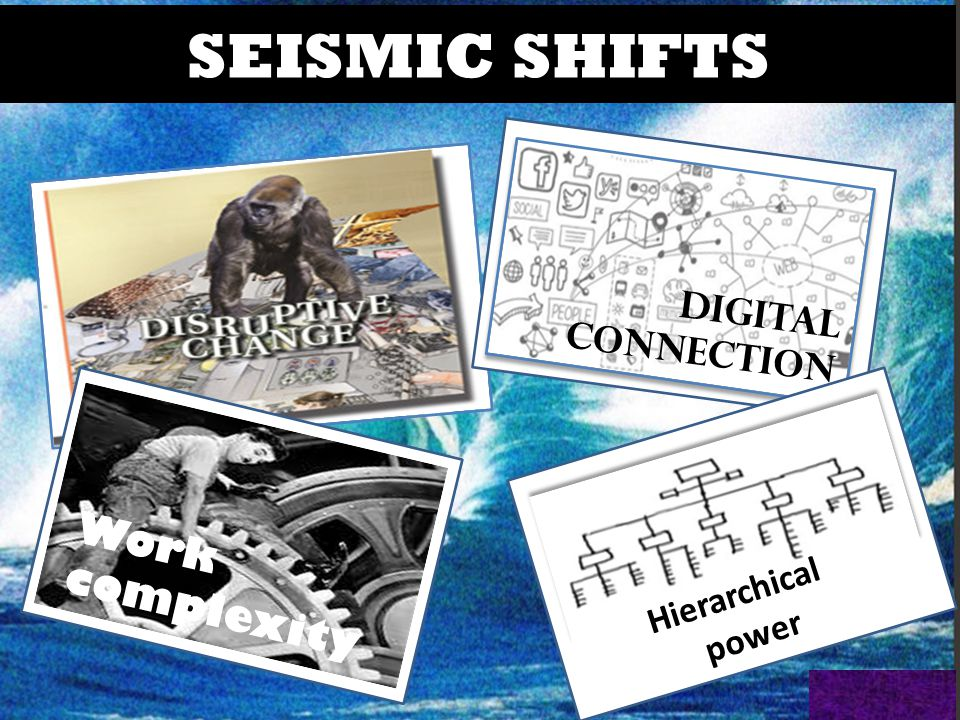 SEISMIC SHIFTS DIGITAL CONNECTION Work complexity Hierarchical power