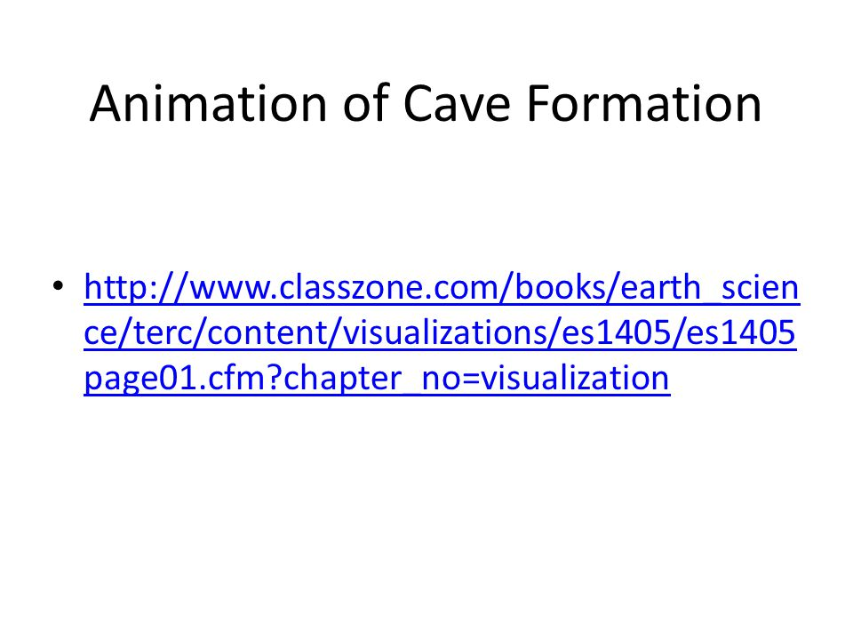 Animation of Cave Formation