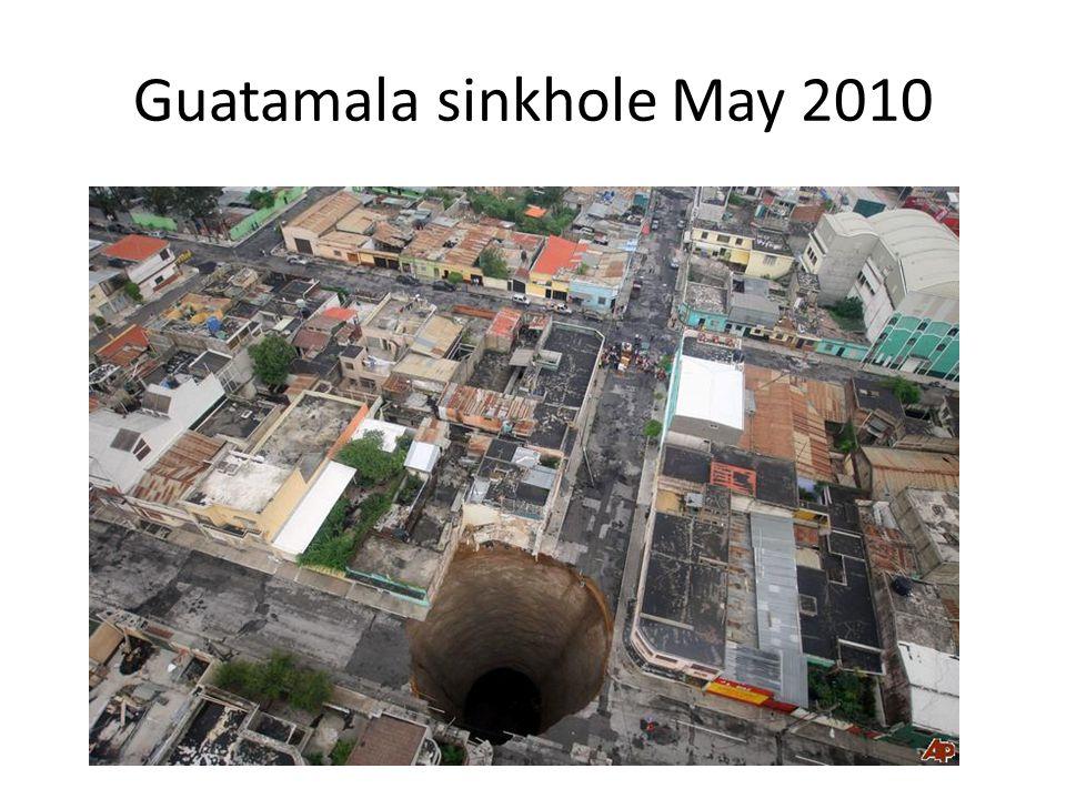 Guatamala sinkhole May 2010