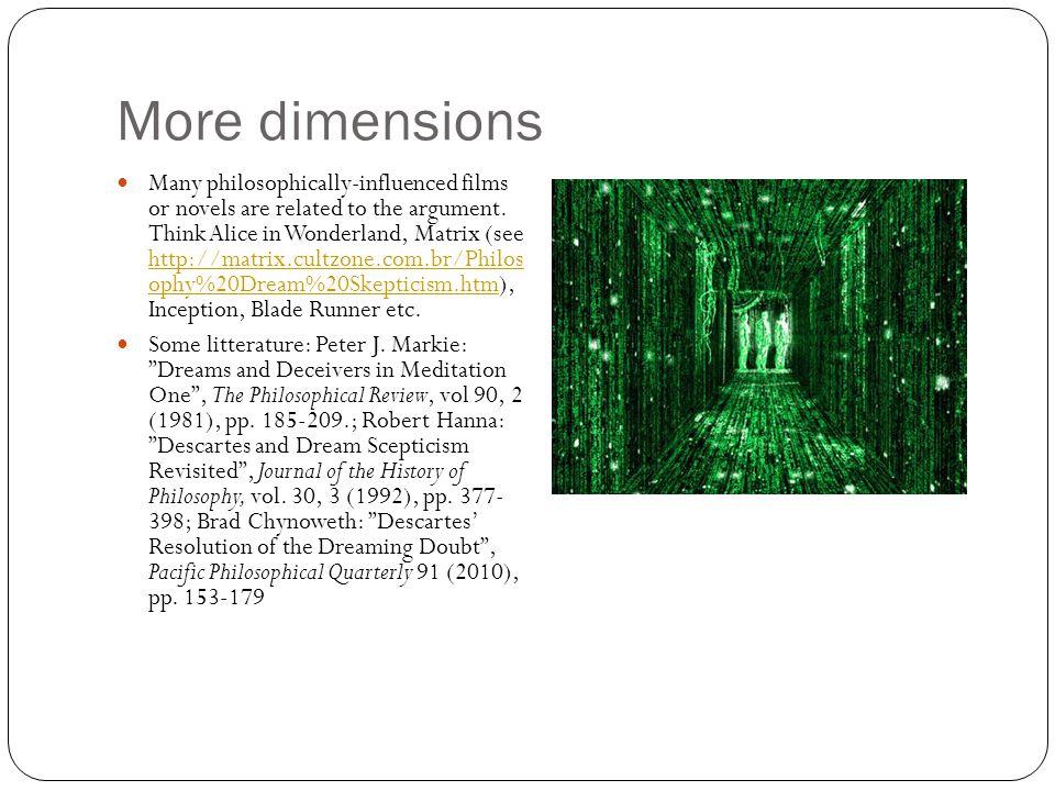 More dimensions