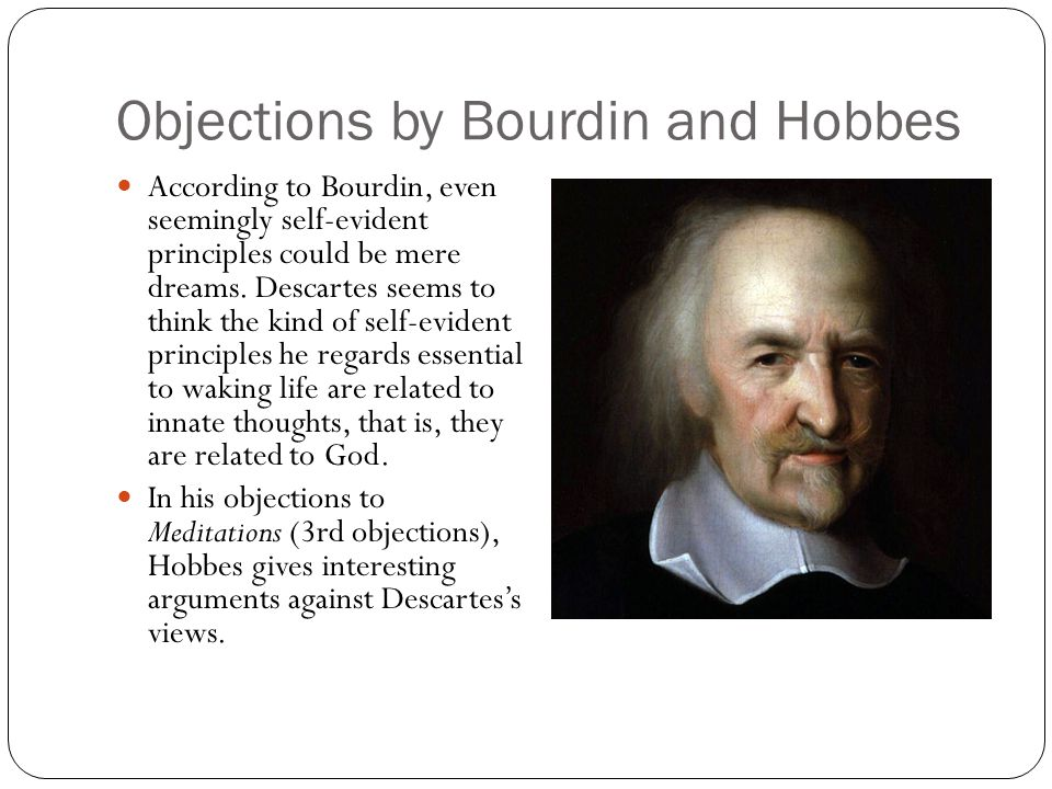 Objections by Bourdin and Hobbes