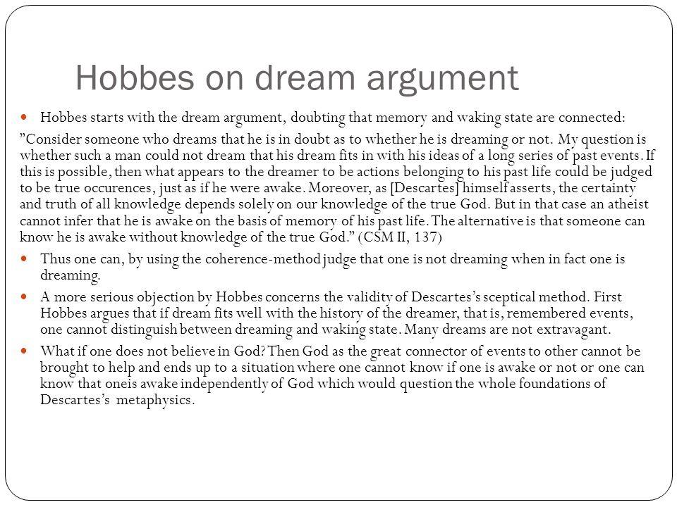 Hobbes on dream argument