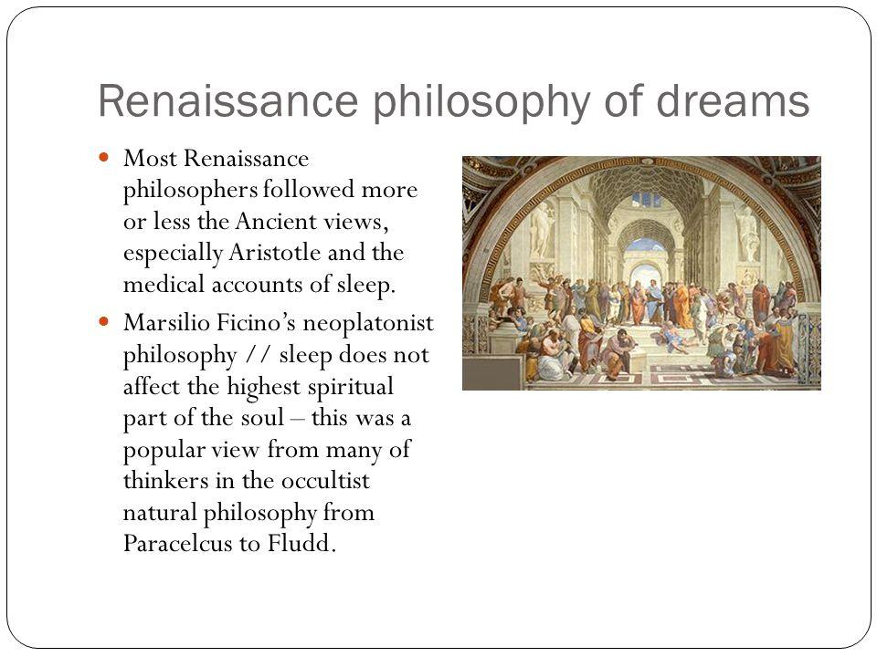 Renaissance philosophy of dreams