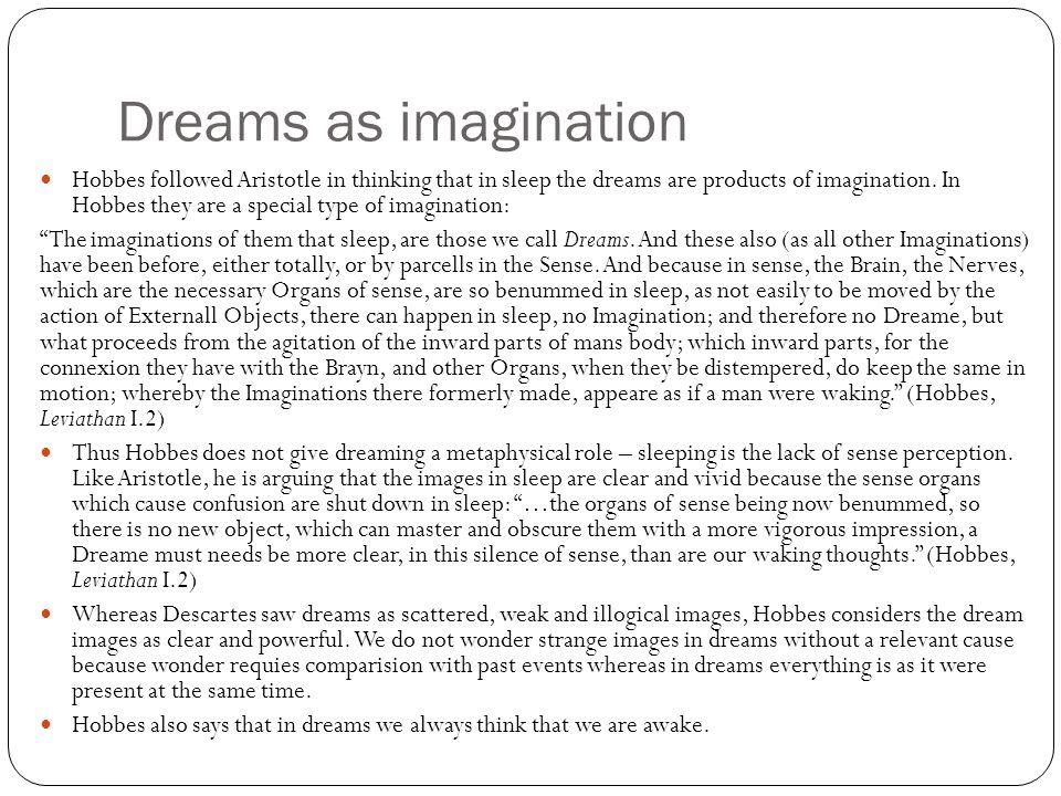 Dreams as imagination