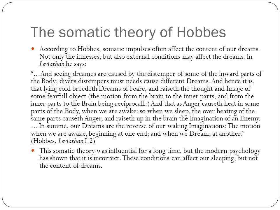The somatic theory of Hobbes