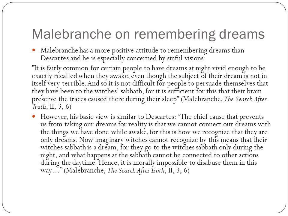 Malebranche on remembering dreams