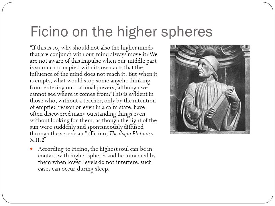 Ficino on the higher spheres