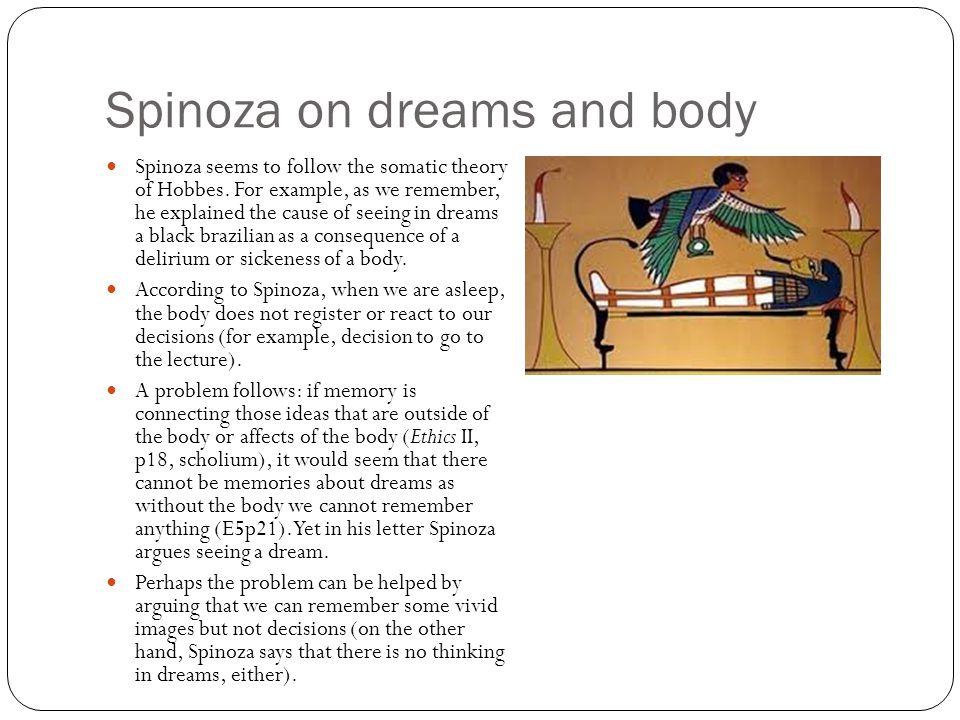 Spinoza on dreams and body