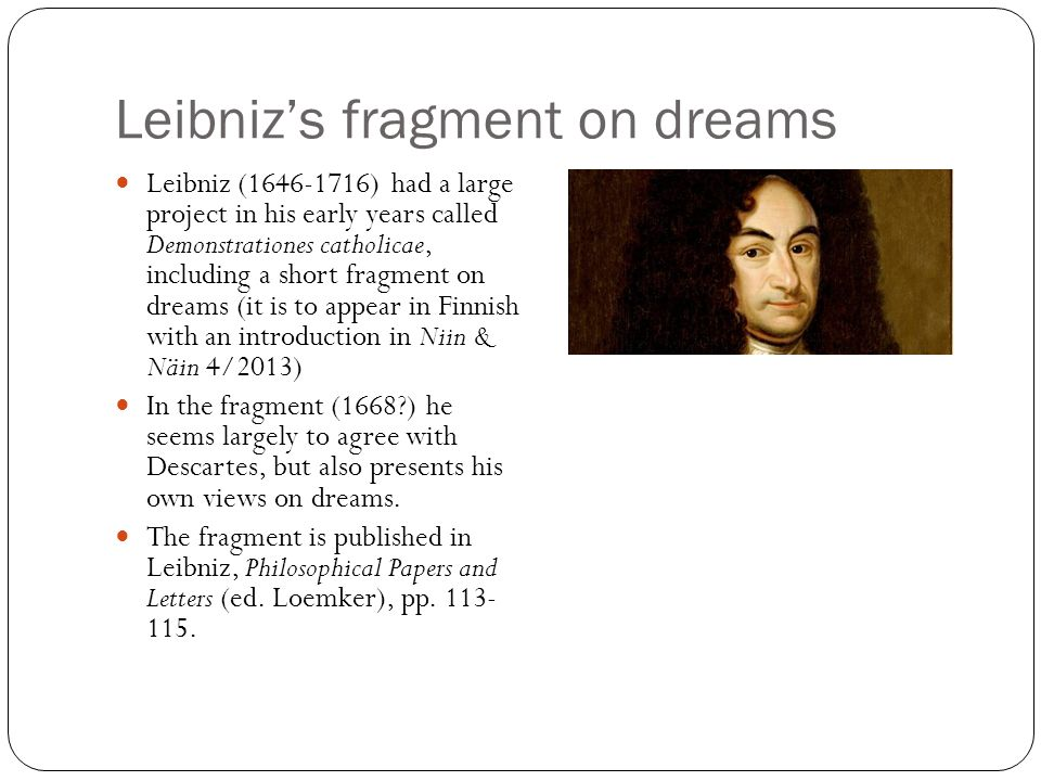Leibniz's fragment on dreams
