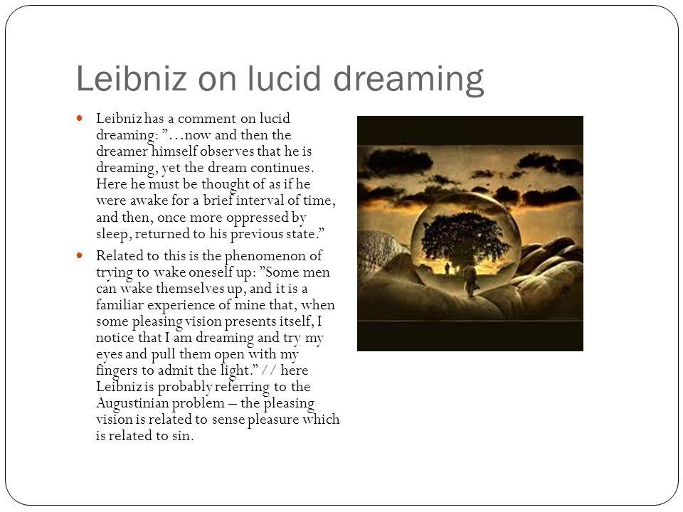 Leibniz on lucid dreaming