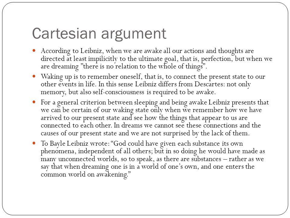 Cartesian argument
