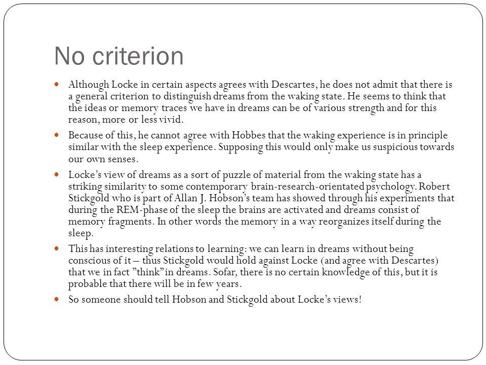 No criterion