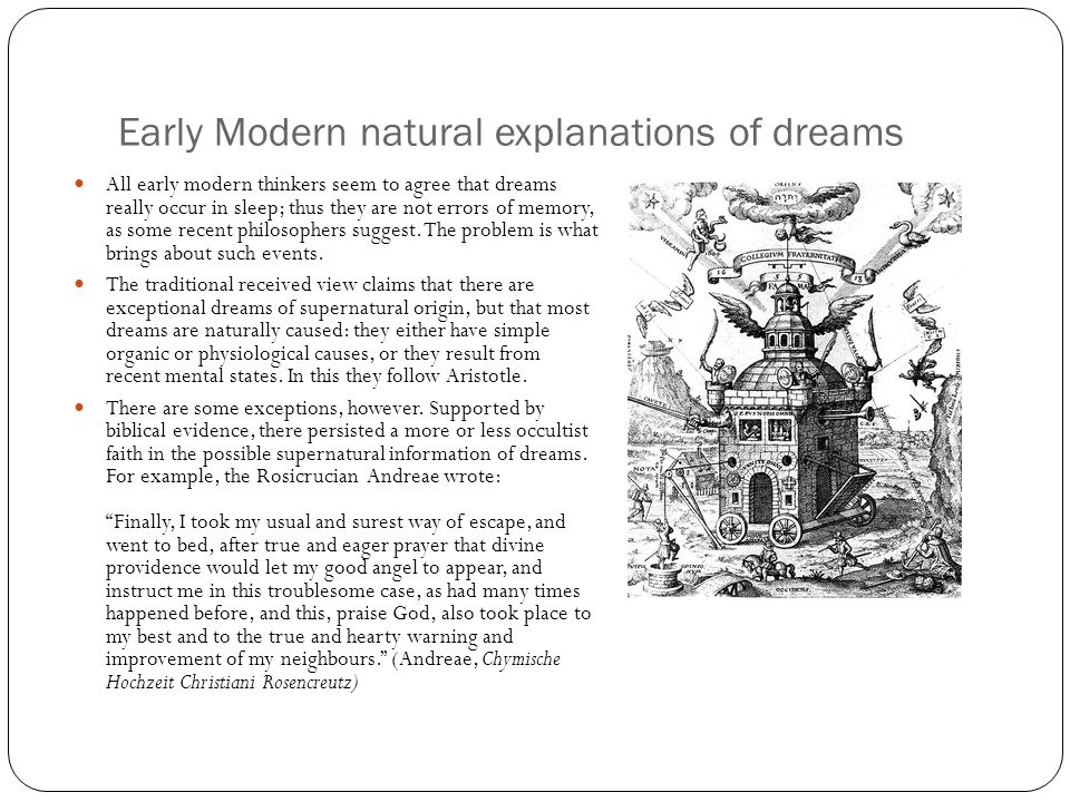 Early Modern natural explanations of dreams