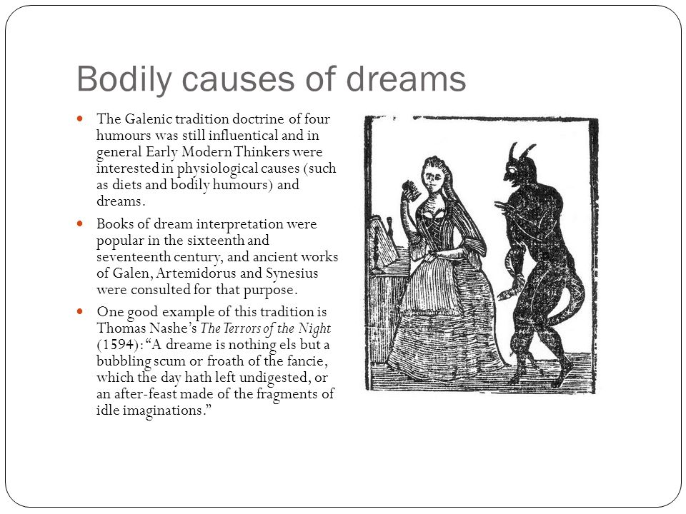 Bodily causes of dreams