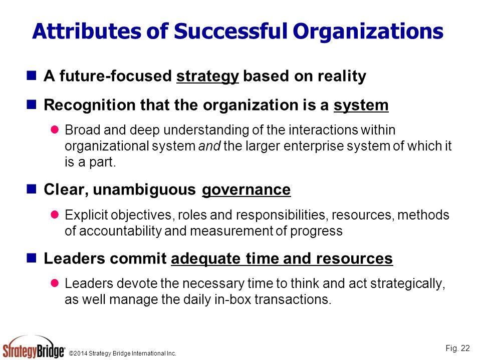 Attributes of Successful Organizations
