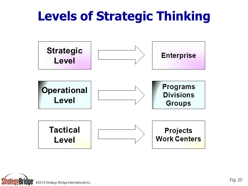 Levels of Strategic Thinking