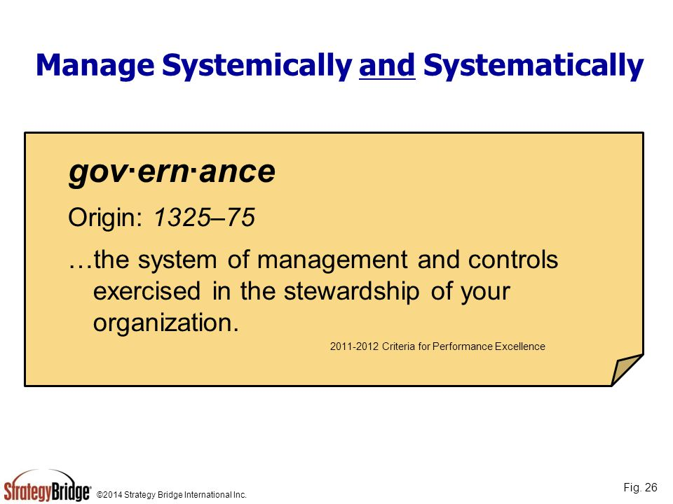 Manage Systemically and Systematically