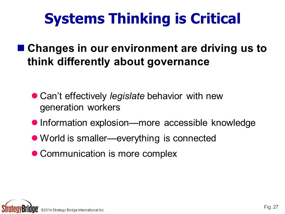 Systems Thinking is Critical