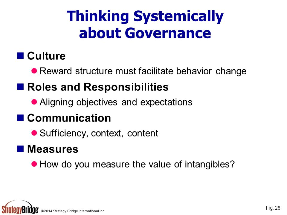 Thinking Systemically about Governance