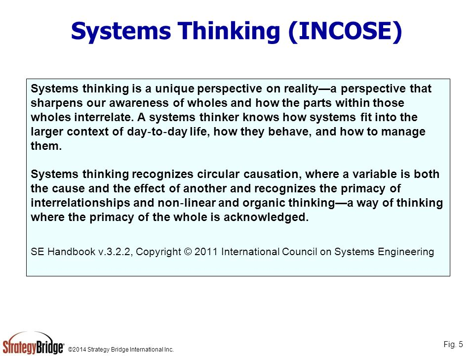 Systems Thinking (INCOSE)