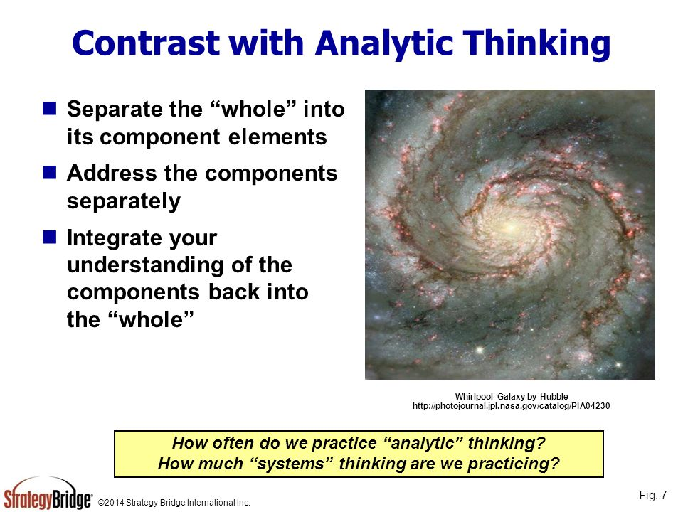 Contrast with Analytic Thinking