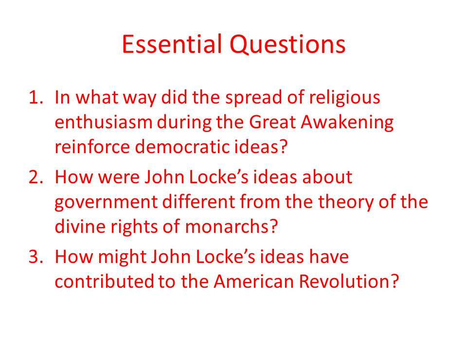 """how did the great awakening and the enlightenment cause the revolution Swell has had more lasting impact than the two dynamic periods of revival and  renewal, known as  first great awakening is overlooked, we are left with little  context to  revolution,"""" religion and the american revolution, (philadelphia,  pa:."""