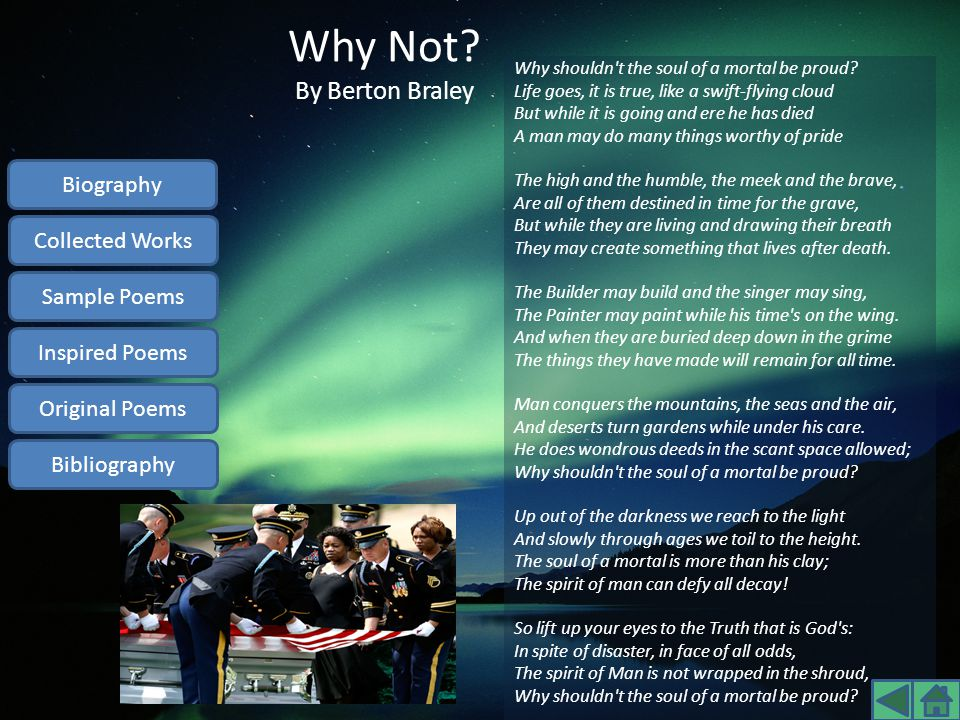 Why Not By Berton Braley