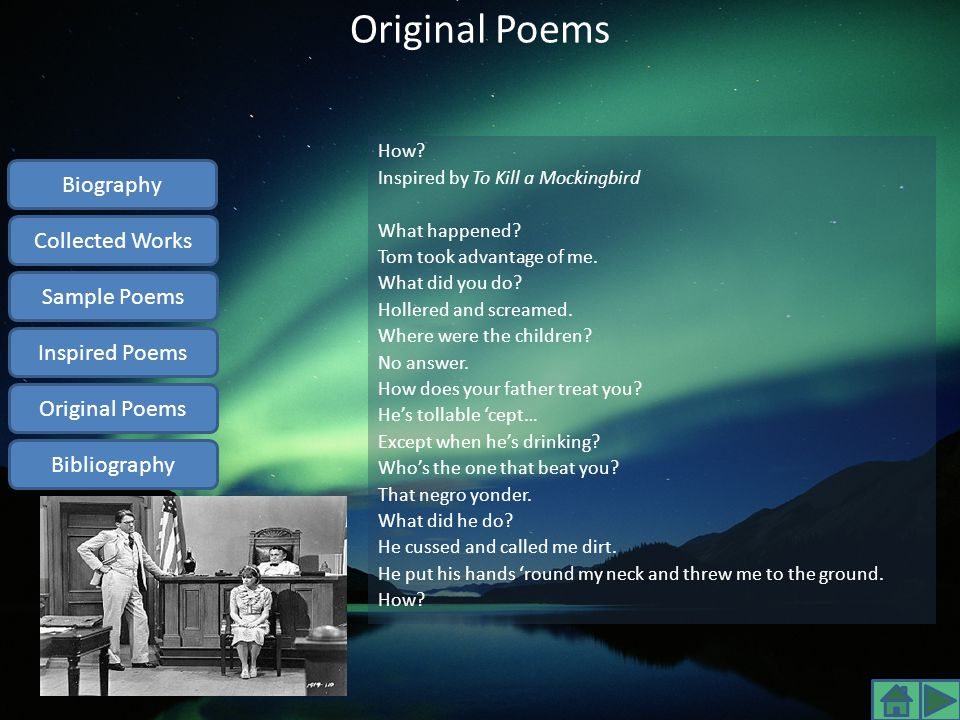 Original Poems Biography Collected Works Sample Poems Inspired Poems