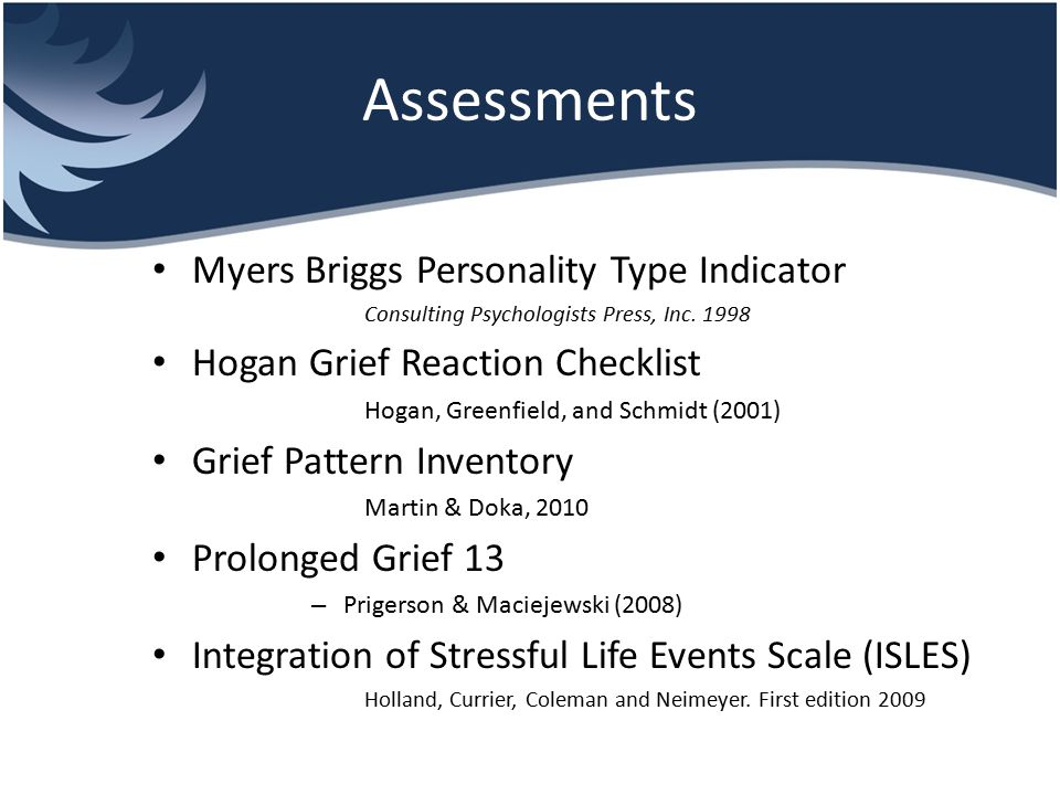 Assessments Myers Briggs Personality Type Indicator