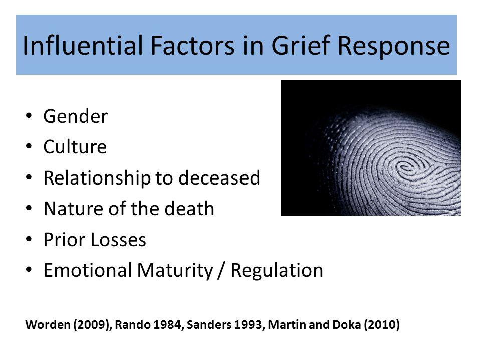 Influential Factors in Grief Response