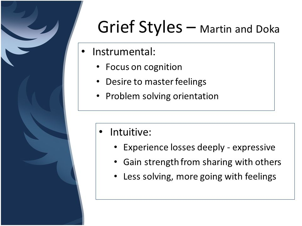 Grief Styles – Martin and Doka
