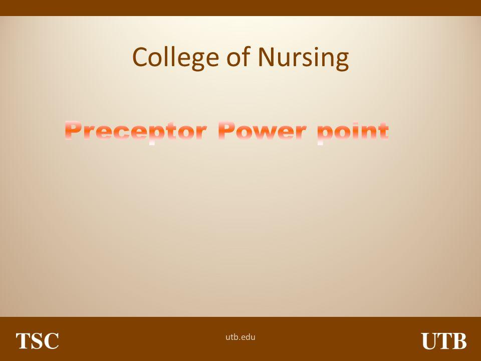 College of Nursing Preceptor Power point