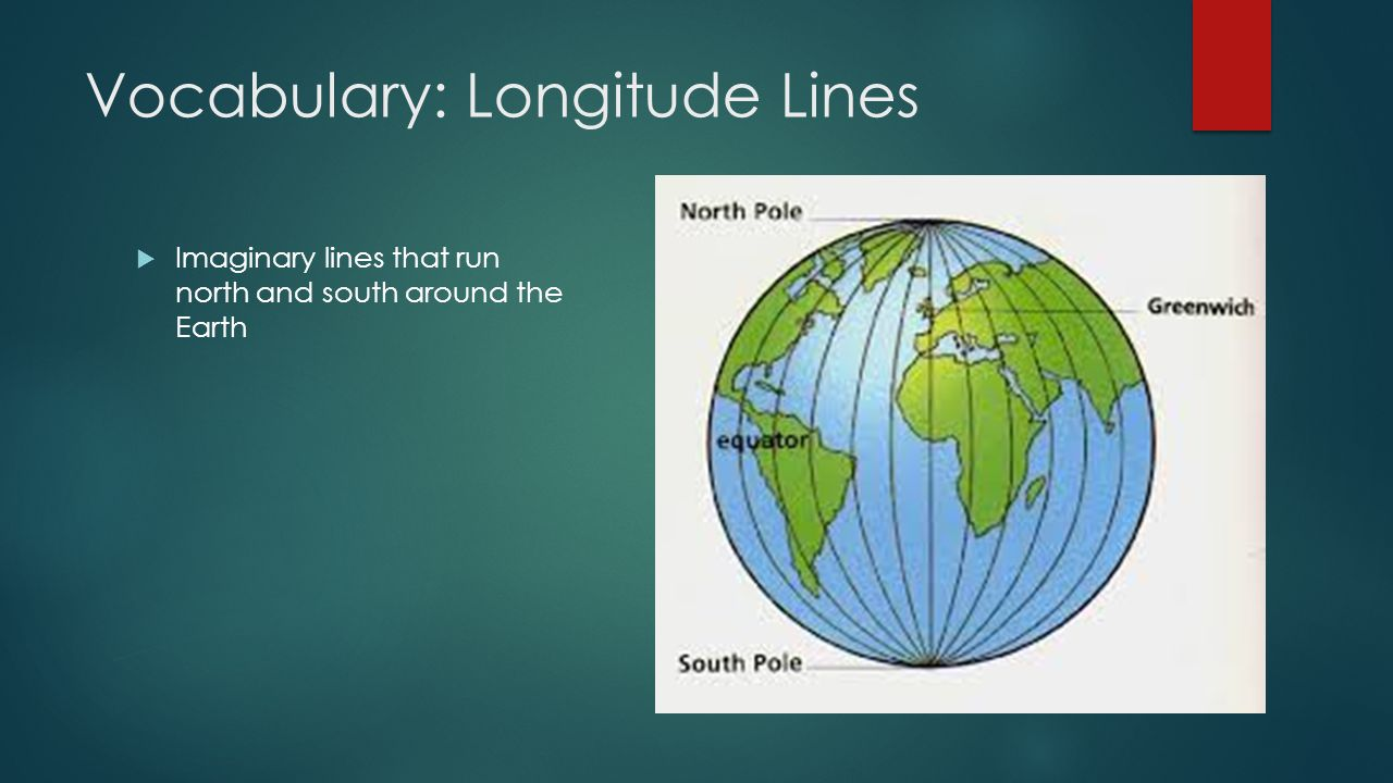 Vocabulary: Longitude Lines