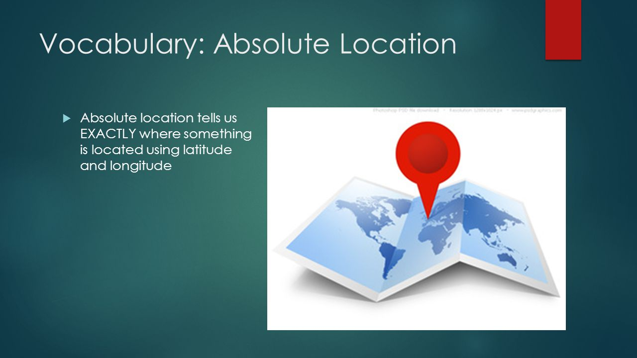 Vocabulary: Absolute Location